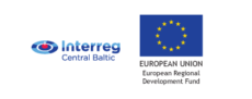 Interreg Central Baltic and EU European Region Development Fund logos